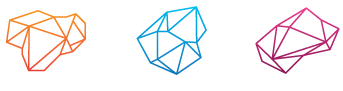 The Strategy Group Logo, which has 3 hemispheres representing The Strategy Group's capacity as innovation consultants, customer experience consultants, design thinking consultants and more