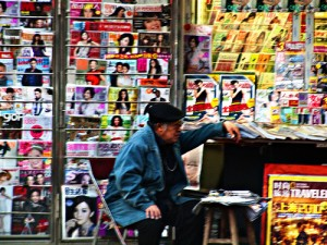 News stand in Beijing. Photo: kevinpoh/Flickr.