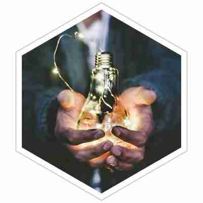 holding an idea in hands