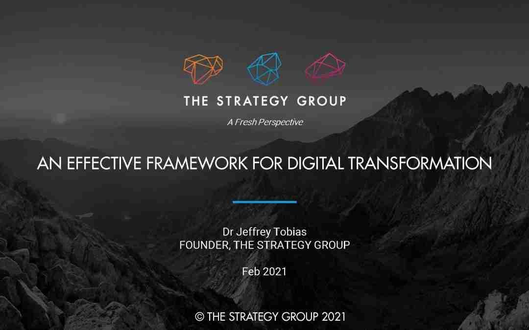 Webinar: An Effective Framework for Digital Transformation